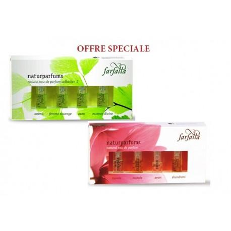 Packs 2 coffrets miniatures parfums bio